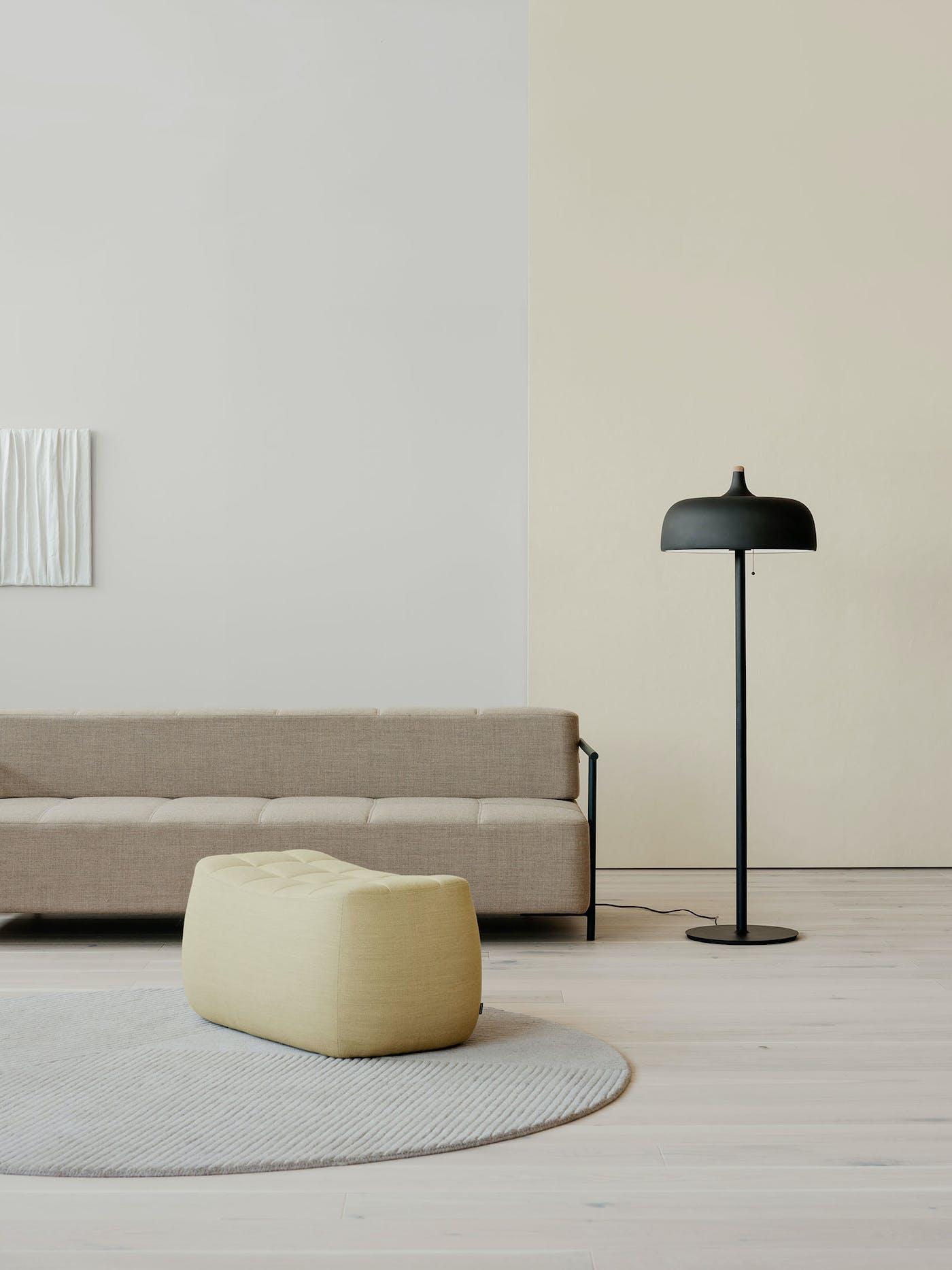 Acorn floor lamp Yam pouf livingroom Northern Photo Einar Aslaksen Low res
