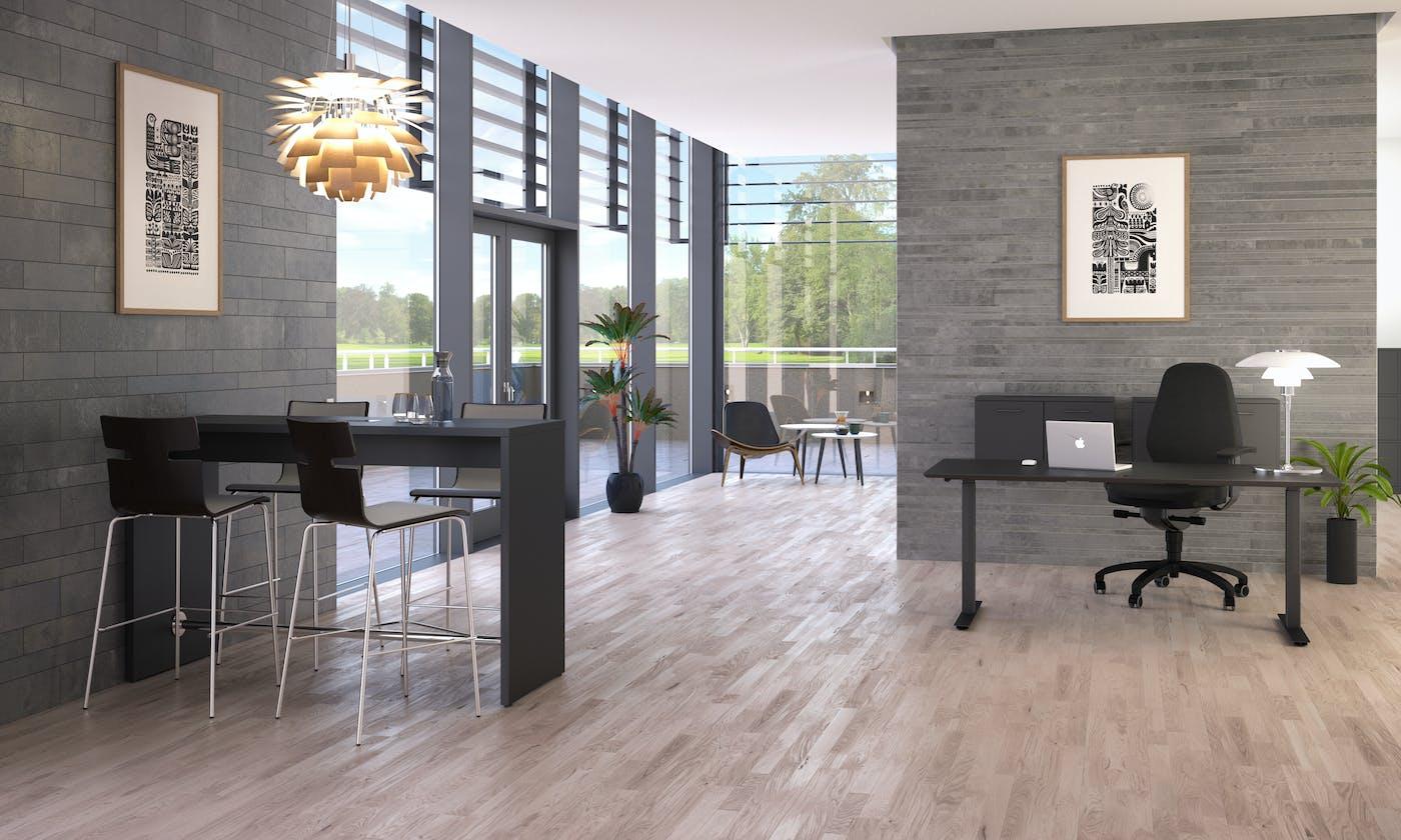 Miljø SQUARE sort sort skrivebord MEETING SWITCH højstole direktørkontor