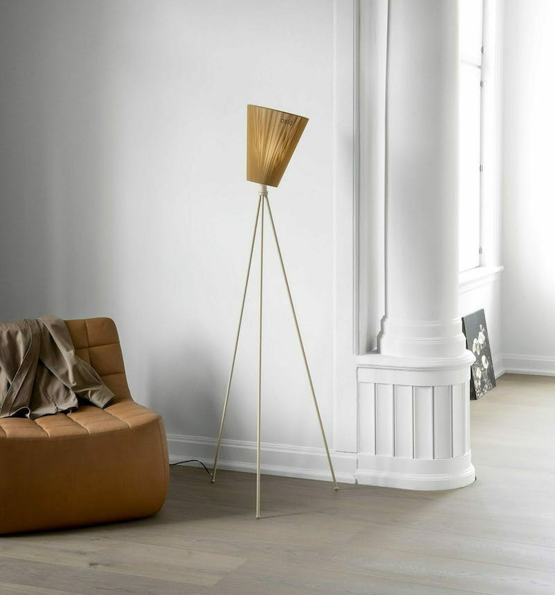 Oslo Wood lamp beige caramel Yam Northern Photo P O Solvberg Low res
