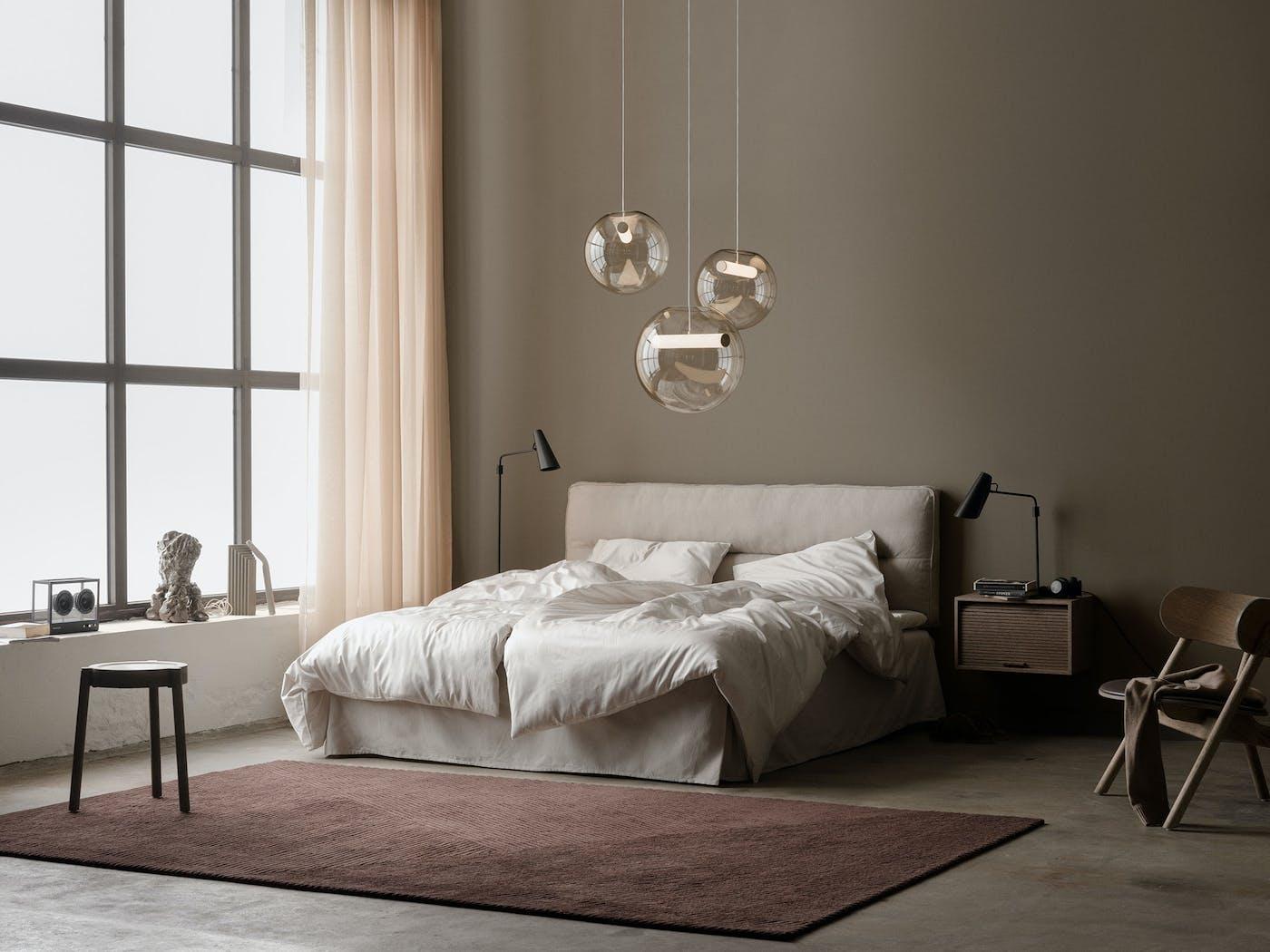 Reveal pendant group Birdy Row bedroom Northern Photo Einar Aslaksen Low res