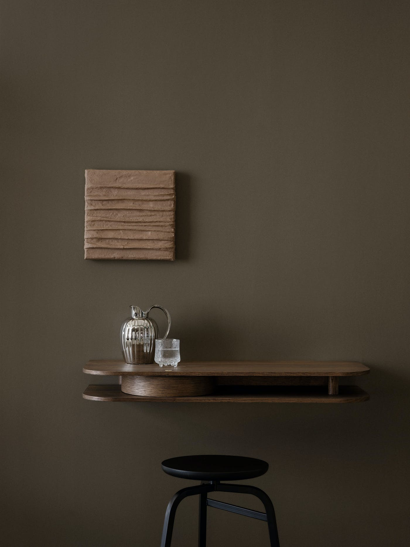 Valet wall console smoked oak front Northern Photo Einar Aslaksen Low res