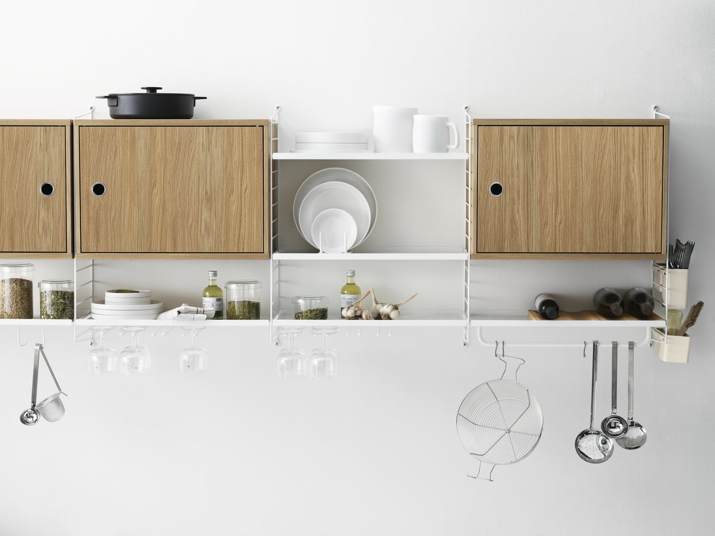 Solution string system kitchen white oak accessories landscape